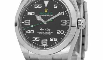 Rolex Air-King 116900, Arabic Numerals, 2020, Very Good, Case material Steel, Bracelet