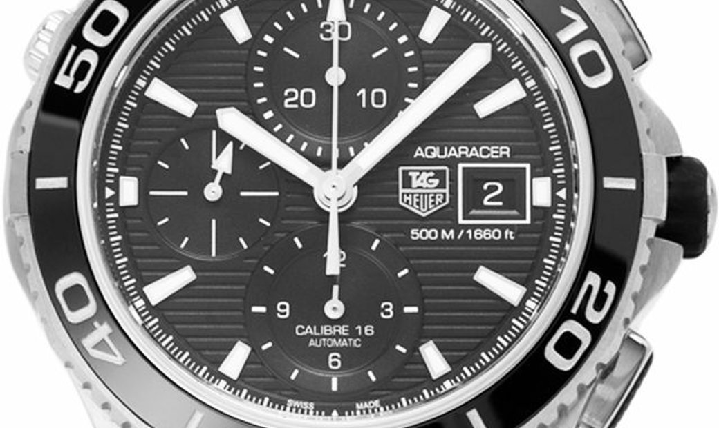 TAG Heuer Aquaracer CAK2110.BA0833, Baton, 2017, Very Good, Case material Steel, Bracel