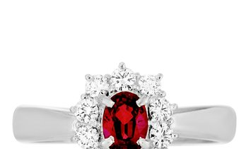 LB Exclusive LB Exclusive Platinum 0.41 ct Diamond and Ruby Ring
