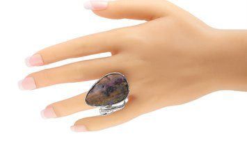LB Exclusive LB Exclusive 18K White Gold 0.10 ct Diamond and Boulder Opal Ring