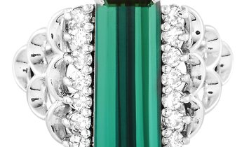 LB Exclusive LB Exclusive Platinum 0.29 ct Diamond and Tourmaline Ring