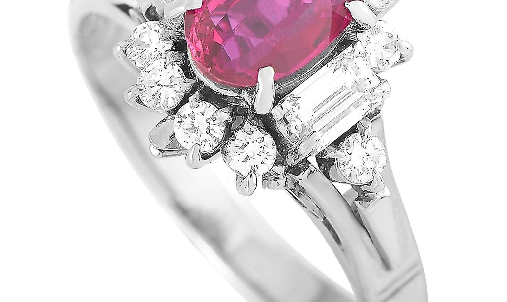 LB Exclusive LB Exclusive Platinum 0.52 ct Diamond and Ruby Ring