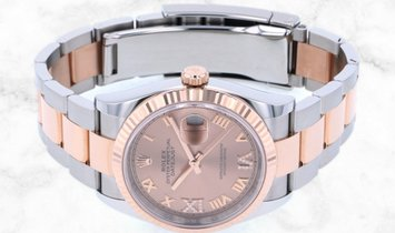 Rolex Datejust 36 126231-0028 Everose Rolesor Rose Colour Dial Diamond Set Roman Numerals