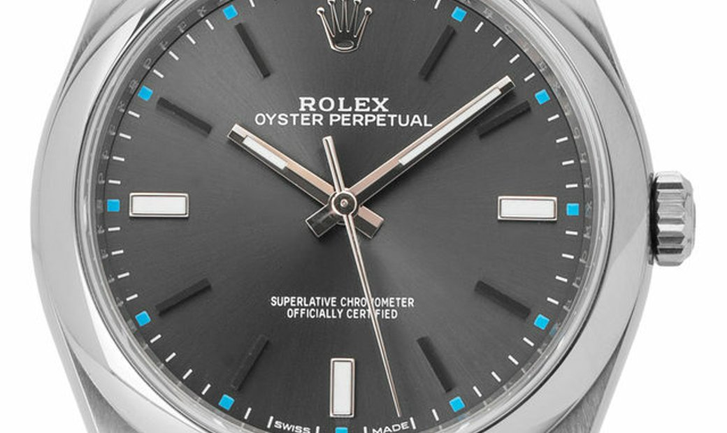 Rolex Oyster Perpetual 114300, Baton, 2018, Very Good, Case material Steel, Bracelet ma