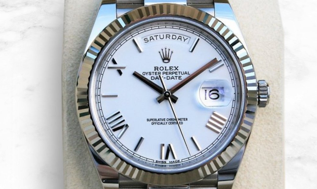 Rolex Day-Date 40 228239-0046 White Gold White Dial with Roman Numerals