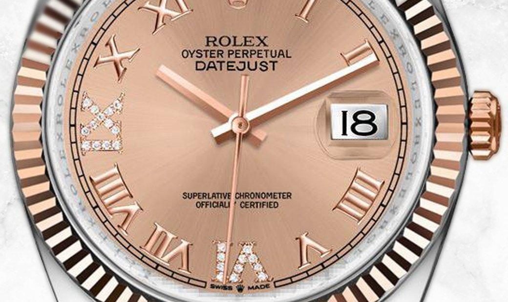 Rolex Datejust 36 126231-0027 Everose Rolesor Diamond Set Rose Dial Jubilee Bracelet