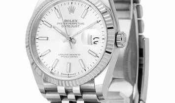 Rolex Datejust 126234, Baton, 2019, Very Good, Case material Steel, Bracelet material:
