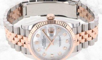 Rolex Datejust 36 126231-0021 Everose Rolesor Diamond Set White MOP Dial Jubilee Bracelet
