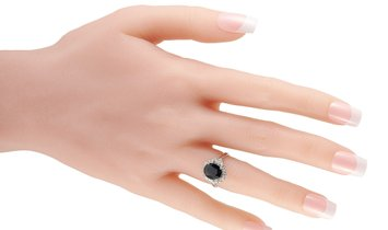 LB Exclusive LB Exclusive Platinum 0.38 ct Diamond and Sapphire Ring
