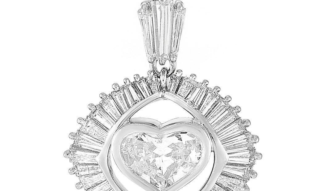 LB Exclusive LB Exclusive Platinum 2.84 ct Diamond Pendant