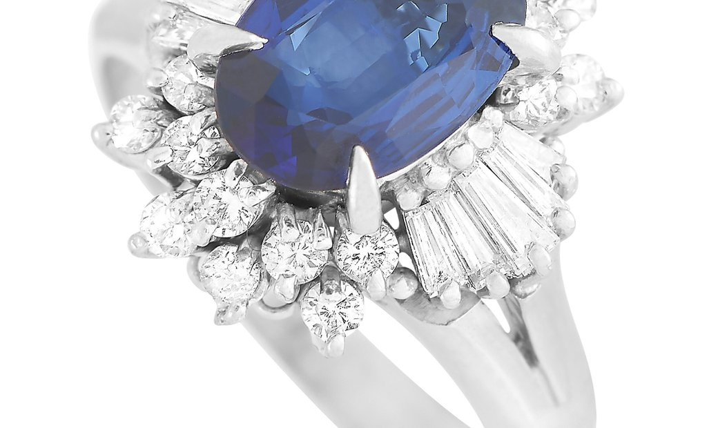 LB Exclusive LB Exclusive Platinum 0.61 ct Diamond and Sapphire Ring
