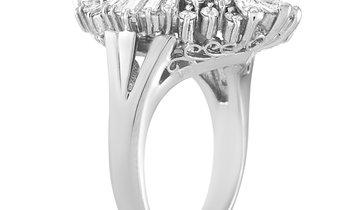 LB Exclusive LB Exclusive Platinum 1.41 ct Diamond and Aquamarine Ring