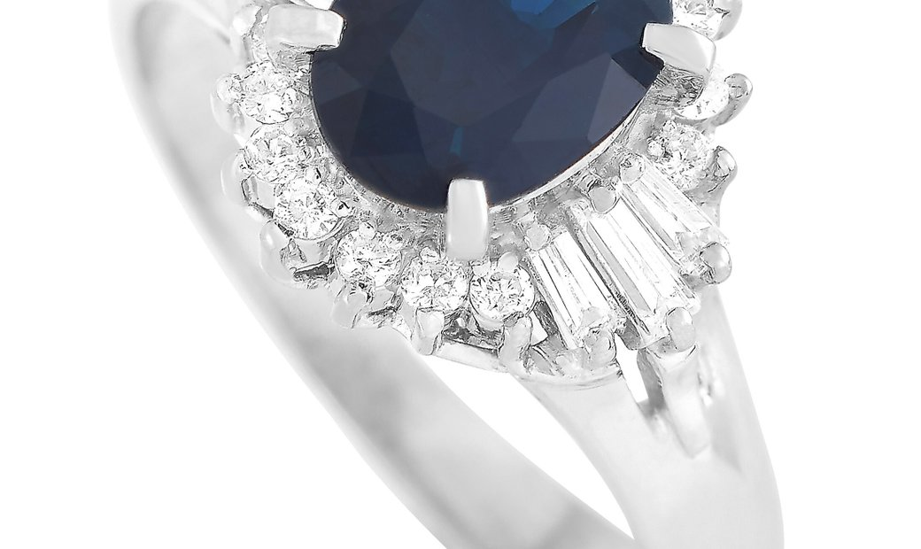 LB Exclusive LB Exclusive Platinum 0.33 ct Diamond and Sapphire Ring