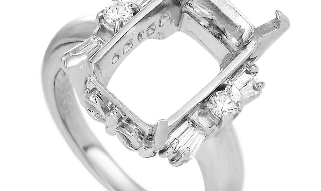 LB Exclusive LB Exclusive Platinum 0.38 ct Diamond Mounting Ring