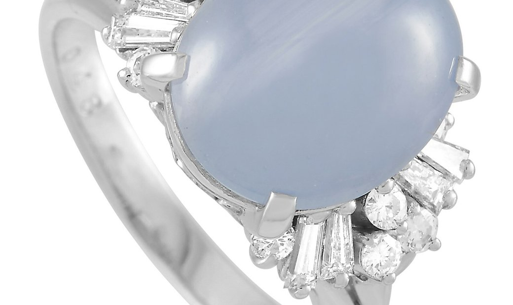 LB Exclusive LB Exclusive Platinum 0.48 ct Diamond and Star Sapphire Ring