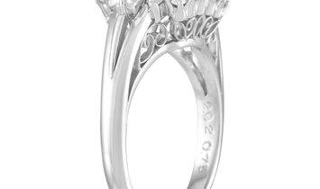 LB Exclusive LB Exclusive Platinum 0.75 ct Diamond and Emerald Ring