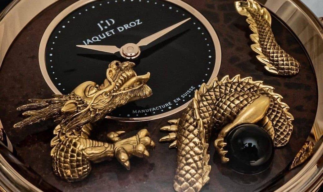 JAQUET DROZ [LIMITED 8 PIECE] Petite Heure Minute Relief Dragon J005023292 (Retail:CHF 76'500)