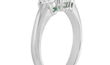 LB Exclusive LB Exclusive Platinum 0.36 ct Diamond and Emerald Ring