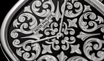 PATEK PHILIPPE GOLDEN ELLIPSE LIMITED EDITION PLATINUM MEN'S WATCH Ref. 5738-50P-001