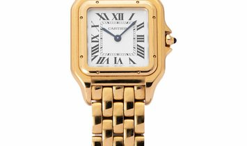 Cartier Panthère WGPN0009, Roman Numerals, 2017, Very Good, Case material Yellow Gold,