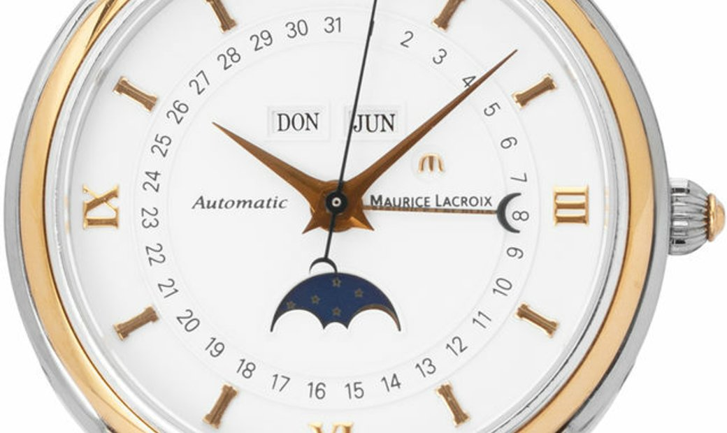 Maurice Lacroix Masterpiece Phases de Lune  MP6057, Roman Numerals, 2001, Used, Case ma