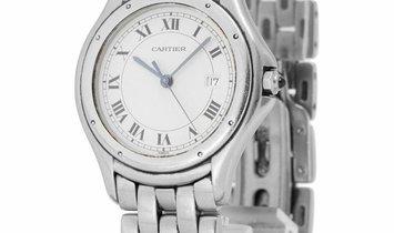 Cartier Cougar 987904, Roman Numerals, 1994, Good, Case material Steel, Bracelet materi