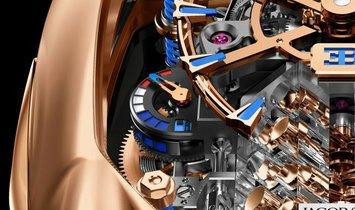 Jacob & Co. 捷克豹 [NEW] Bugatti Chiron 16 Cylinder Piston Engine Tourbillon BU200.40.AE.AB.ABRUA