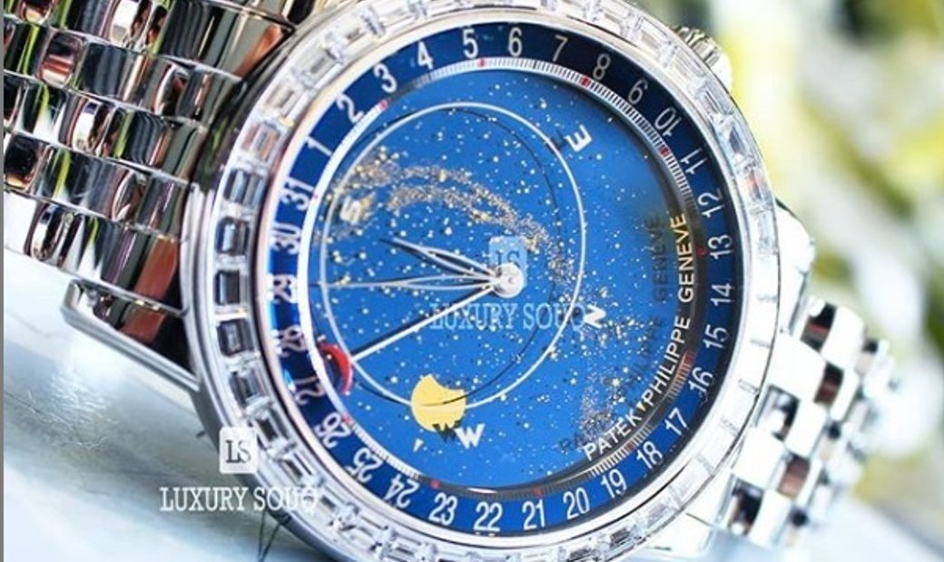 PATEK PHILIPPE GRAND COMPLICATIONS CELESTIAL BAGUETTE WHITE GOLD MEN'S WATCH Ref. 6104/1G-001