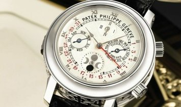 PATEK PHILIPPE SKY MOON TOURBILLON PLATINUM MEN'S WATCH Ref. 5002P-001