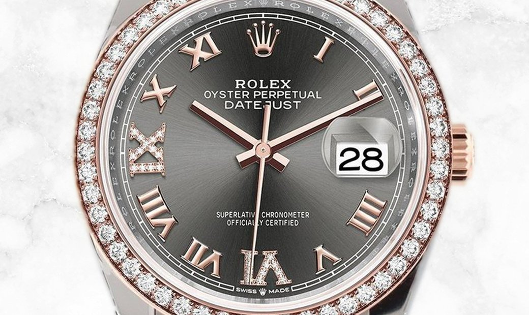Rolex Datejust 36 126281RBR-0011 Oystersteel and Everose Gold Diamond Set Slate Dial