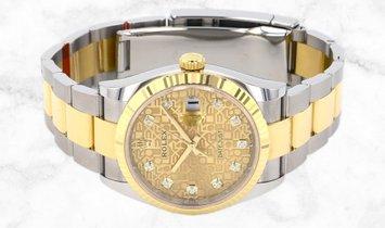 Rolex Datejust 36 126233-0034 Yellow Rolesor Champagne Jubilee Diamond Set Dial