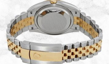Rolex Datejust 36 126233-0033 Yellow Rolesor Diamond Set Champagne Jubilee Dial