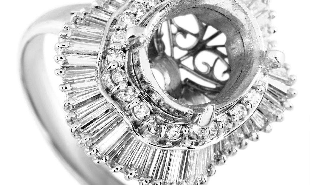 LB Exclusive LB Exclusive Platinum 1.21 ct Diamond Mounting Ring
