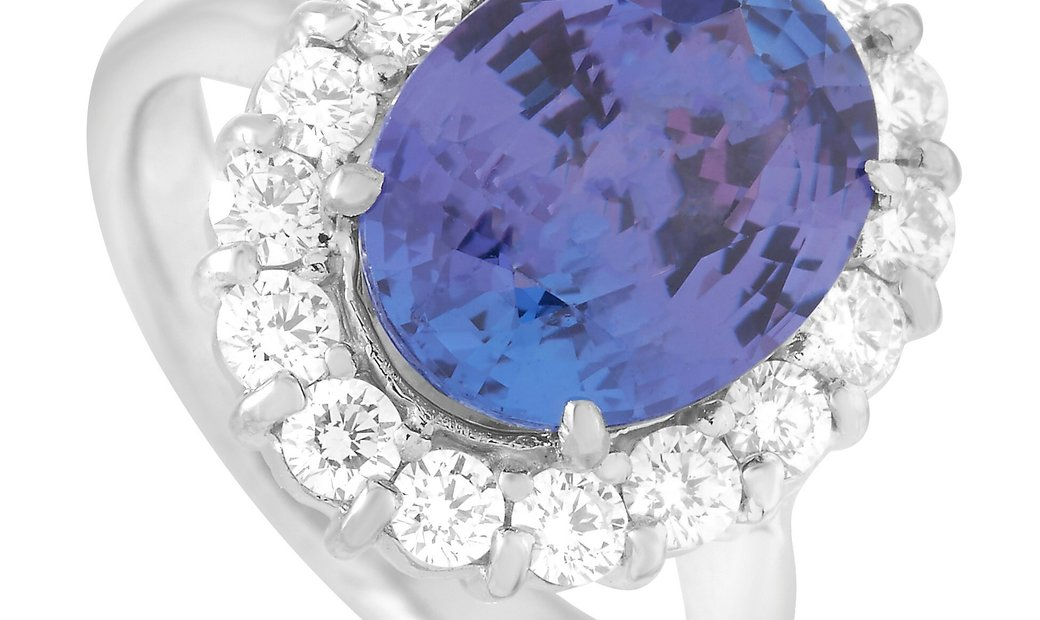 LB Exclusive LB Exclusive Platinum 0.97 ct Diamond and Tanzanite Ring