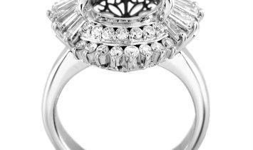 LB Exclusive LB Exclusive Platinum 1.03 ct Diamond Mounting Ring