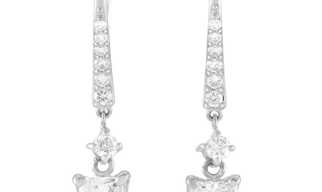 LB Exclusive LB Exclusive Platinum 1.17 ct Diamond Earrings
