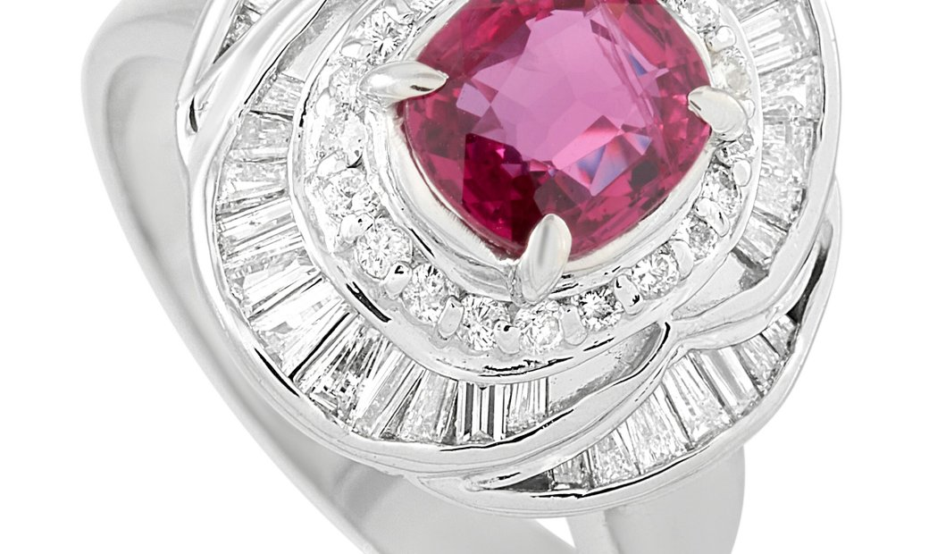 LB Exclusive LB Exclusive Platinum 1.15 ct Diamond and Ruby Ring