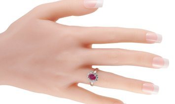 LB Exclusive LB Exclusive Platinum 0.53 ct Diamond and Ruby Ring