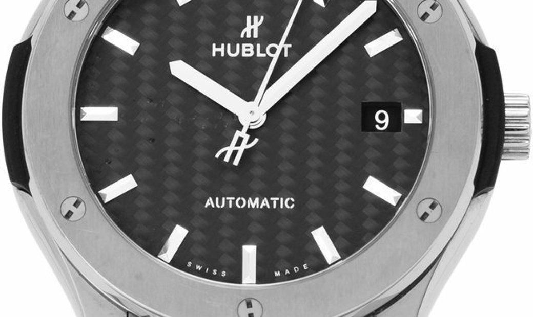 Hublot Classic Fusion 511.NX.1771.QR.PLP15, Baton, 2017, Very Good, Case material Titan