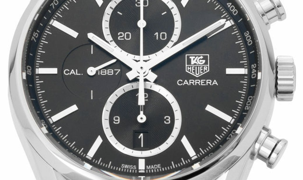 TAG Heuer Carrera CAR2110.BA0720, Baton, 2017, Very Good, Case material Steel, Bracelet