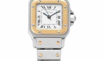 Cartier Santos Automatic , Roman Numerals, 1992, Used, Case material Steel, Bracelet ma