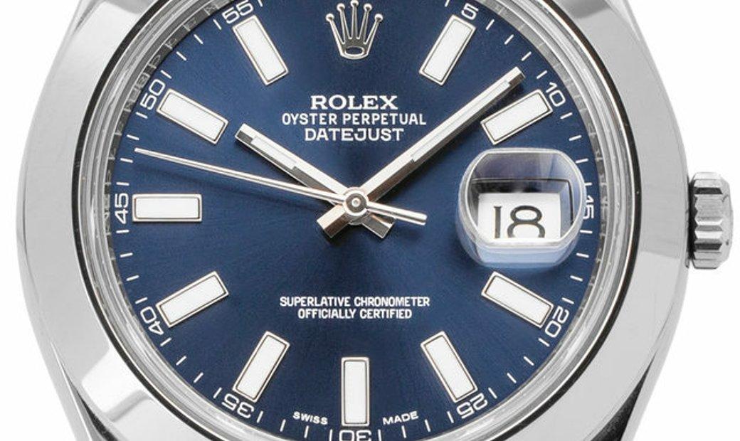 Rolex Datejust II 116300, Baton, 2016, Very Good, Case material Steel, Bracelet materia