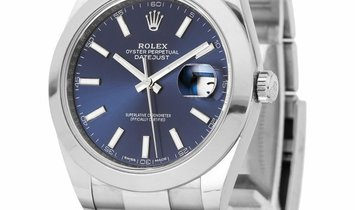 Rolex Datejust 126300, Baton, 2018, Very Good, Case material Steel, Bracelet material:
