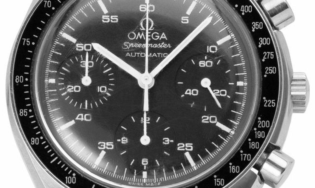 Omega Speedmaster Chronograph 3510.50.00, Baton, 2004, Good, Case material Steel, Brace