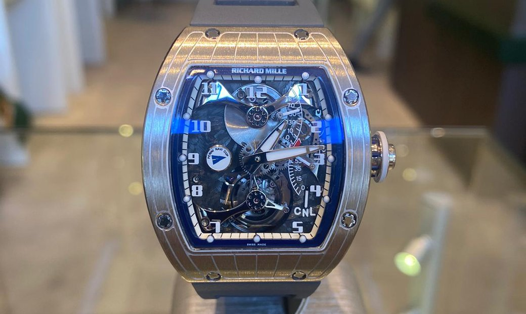 Richard Mille RM 014 Tourbillon V2 Marine White Gold Watch