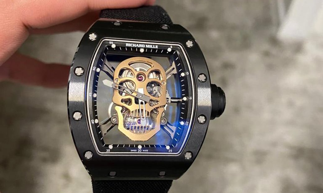 Richard Mille [2013 LIKE NEW] RM 52-01 Tourbillon Skull Nano Ceramique
