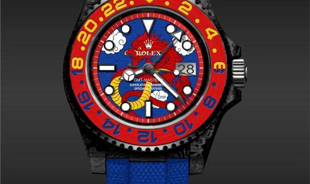 "Rolex DiW [NEW] NTPT Carbon GMT-Master II ""DRAGON V2"" (Retail: US$47,000)"