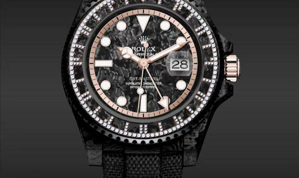 """Rolex DiW [NEW] NTPT Carbon GMT-Master II """"ACTURUS"""" (Retail: US$48,500)"""
