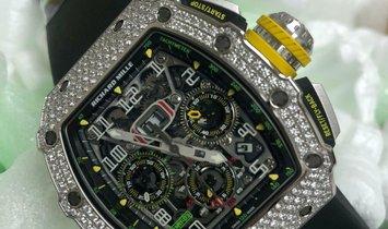 Richard Mille [NEW] RM 11-03 White Gold Full Set Diamonds Mens Watch