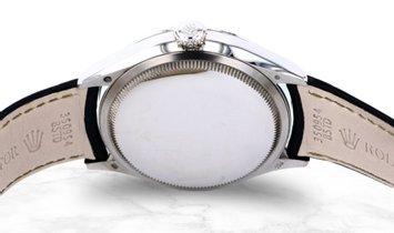 Rolex Cellini Date 50519-0013 White Gold Blue Guilloche Dial Double Bezel Alligator Strap